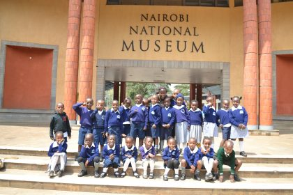 Primary students during their excursion at the Nairobi National Museum